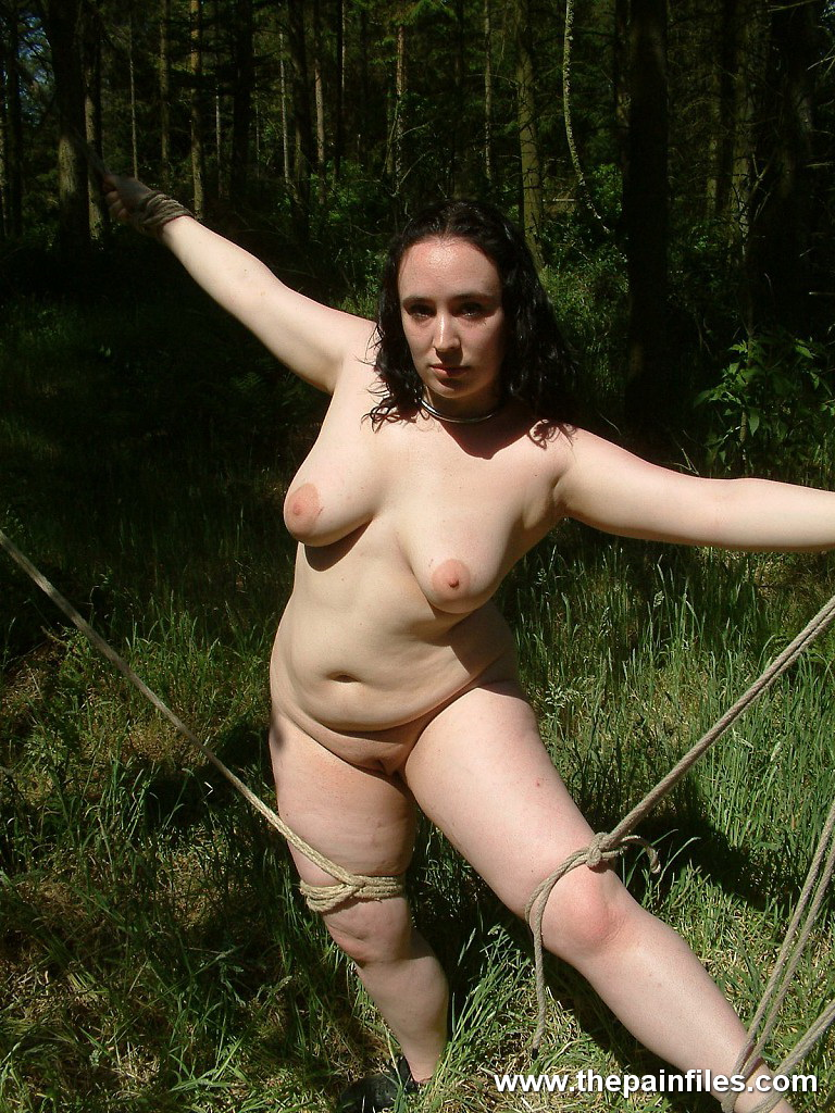 Bbw outdoor bondage