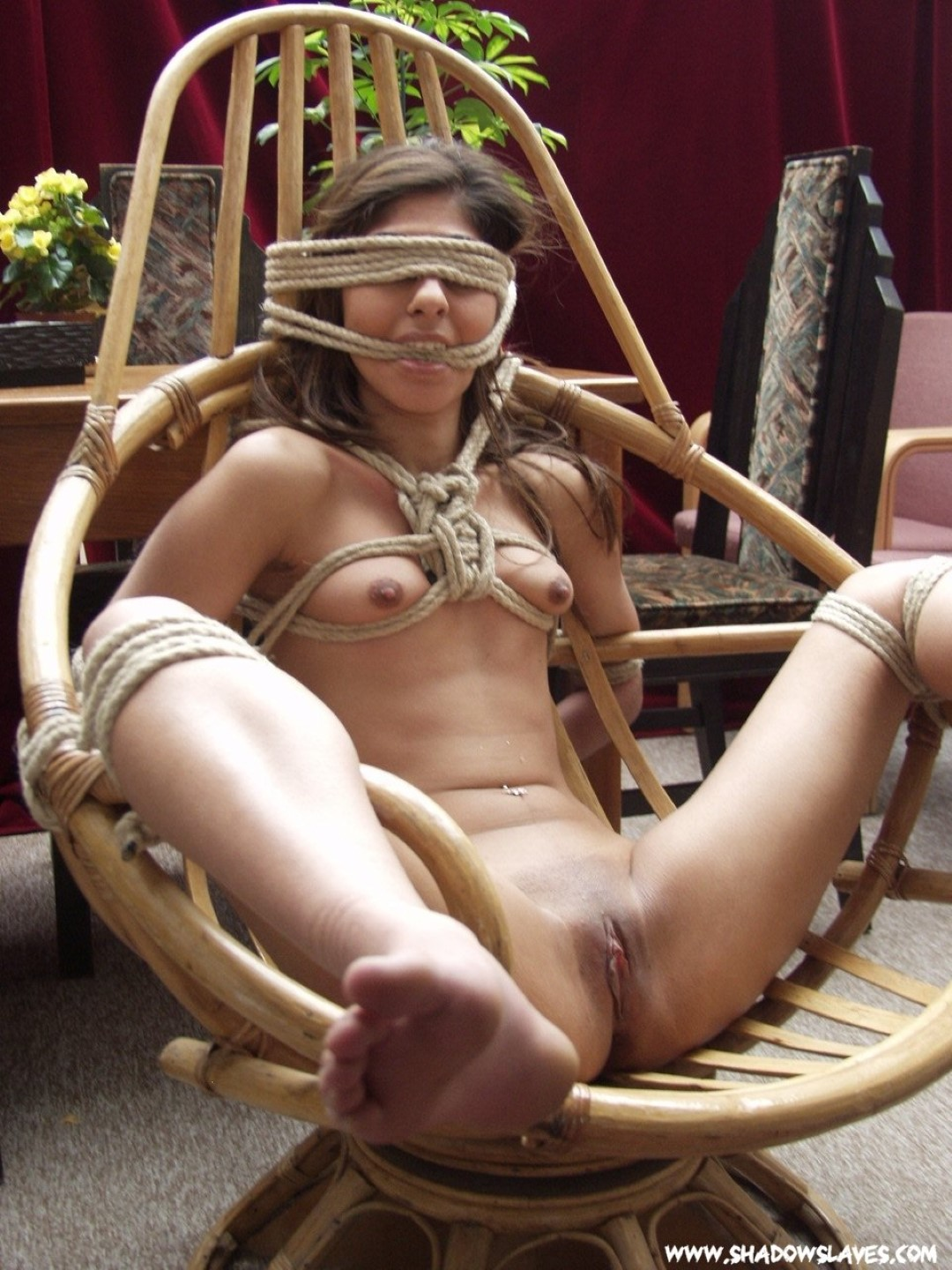Strict rope bondage